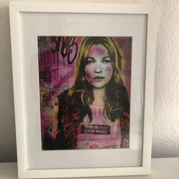 Other - Kate Moss Artwork in Frame
